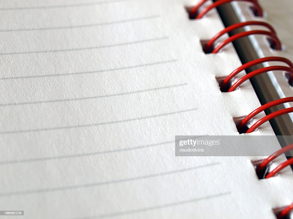 Blank Notebook Page Stock Photo Getty Images