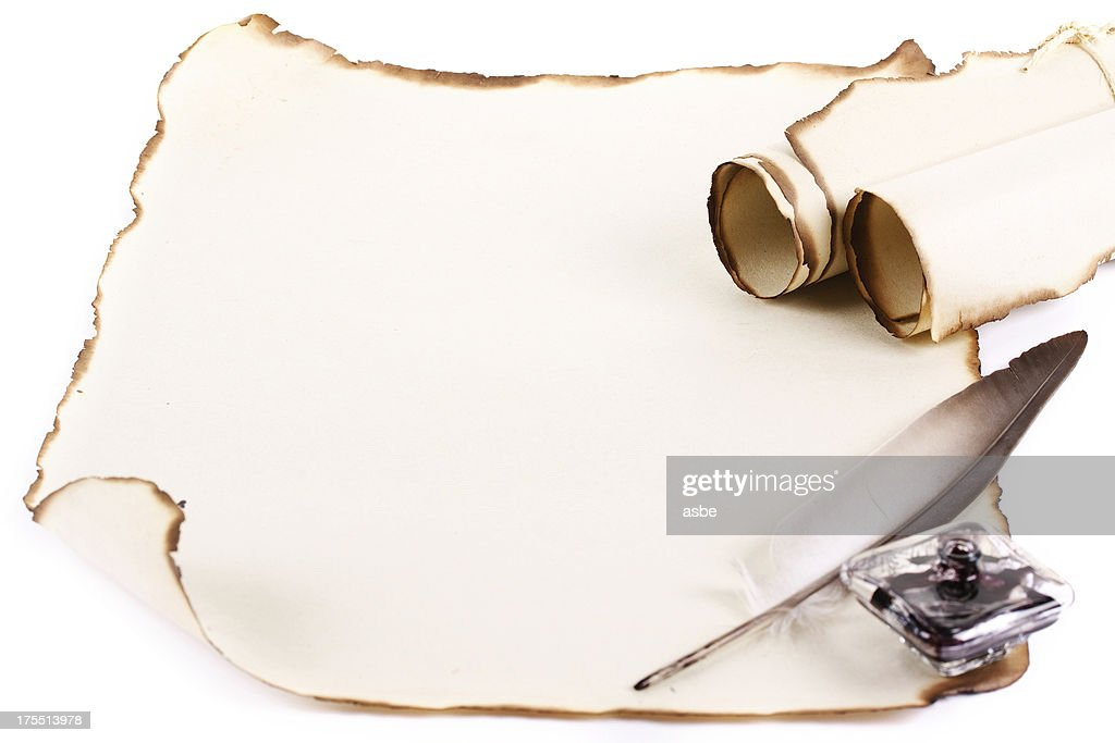 Blank Old Parchment : Stock Photo