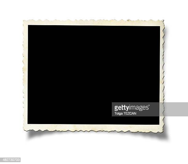 blank old photo paper - photo album stock photos and pictures