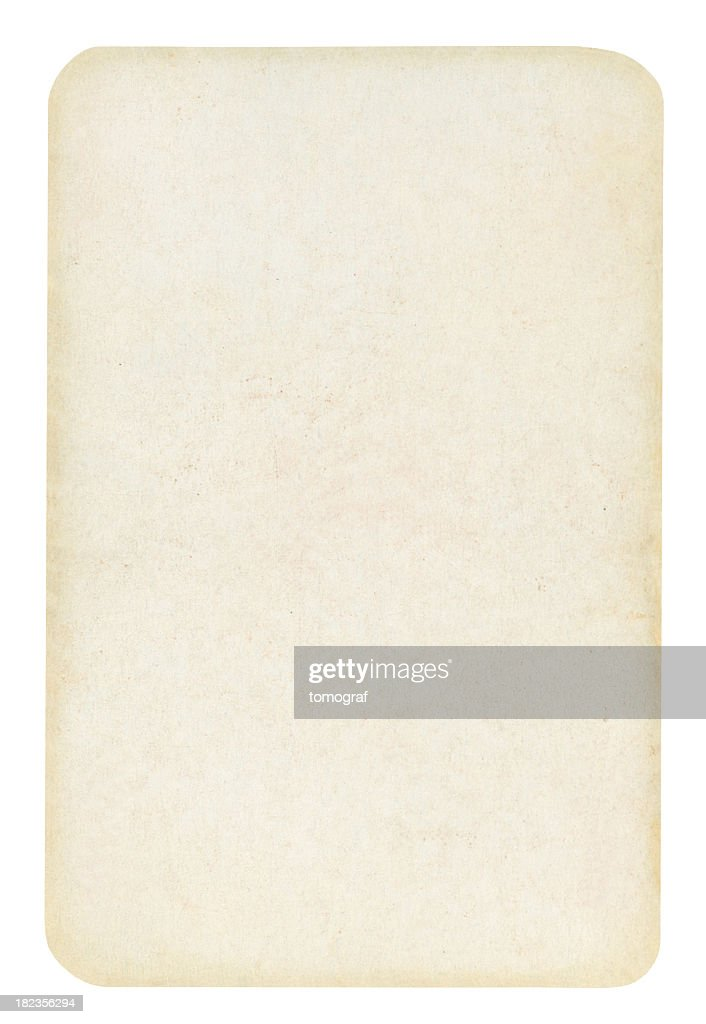 Blank Old Playing card Isolated (clipping path included) : Stock Photo