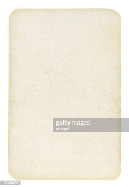Blank Old Playing card Isolated (clipping path included)