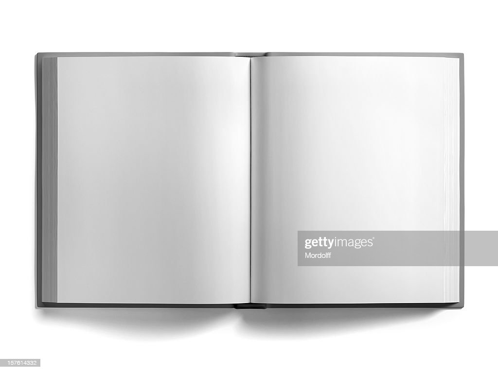 Blank Open Book Isolated on White : Stock Photo