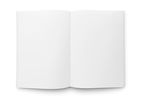 Blank Open Magazine or Book 1147867877