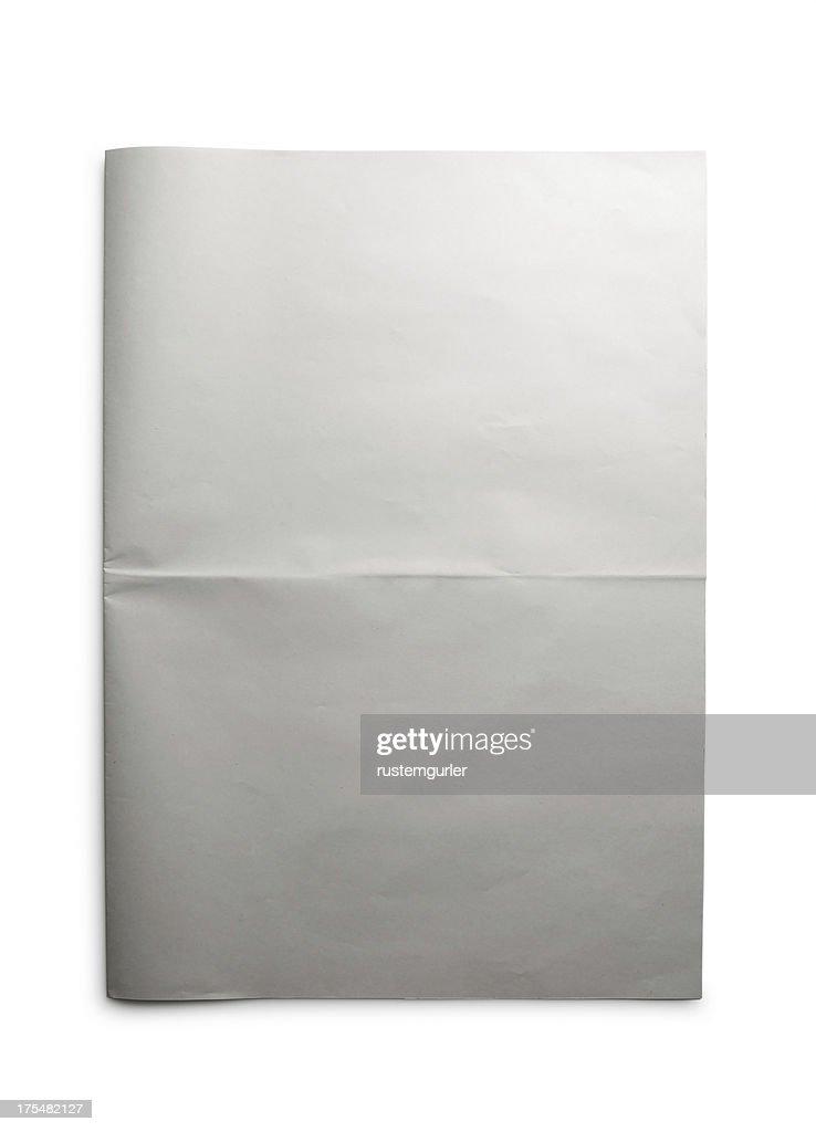 Blank Open Newspaper : Stock Photo
