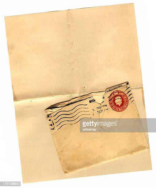 blank page and envelope - postmark stock pictures, royalty-free photos & images