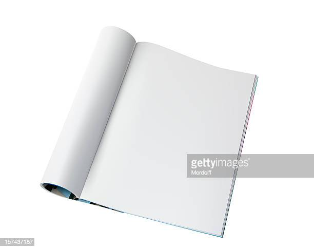 blank page of magazine - magazine stock pictures, royalty-free photos & images