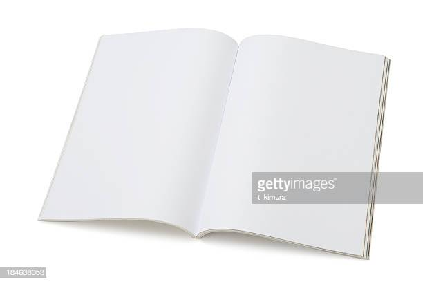 blank page of magazine - blank stock pictures, royalty-free photos & images