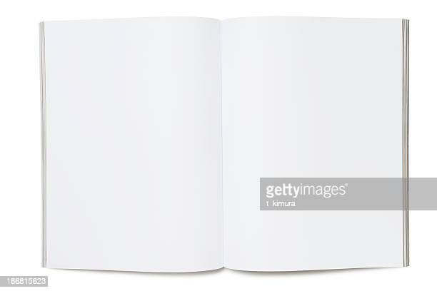 blank page of magazine - brochure stock pictures, royalty-free photos & images