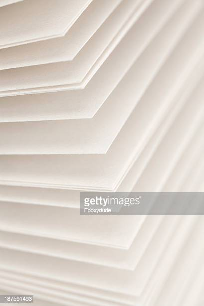 Blank pages of a diary fanned out, full frame close-up