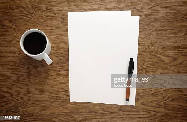 Papier de bureau de travail