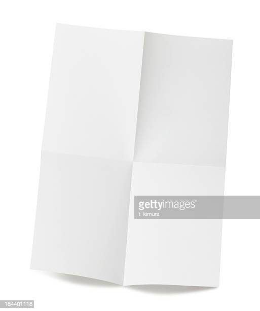 blank paper - flyer leaflet stock photos and pictures