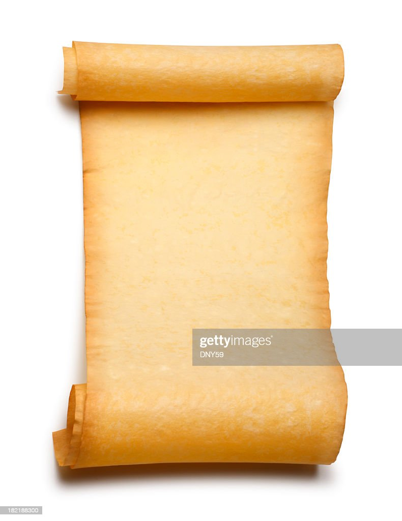 Blank Paper Scroll Isolated On A white Background : Stock Photo