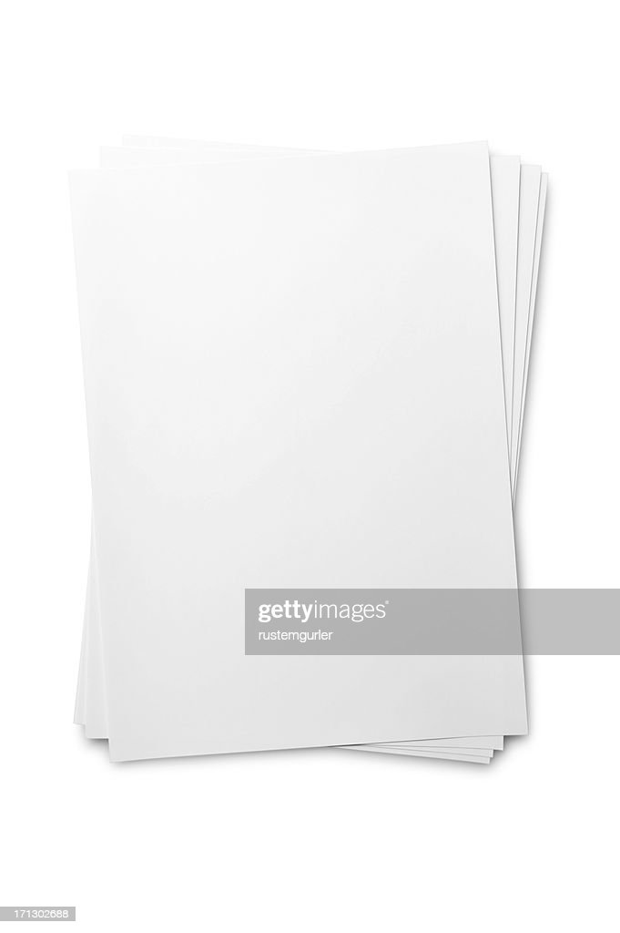 Blank paper sheet on white : Stock Photo