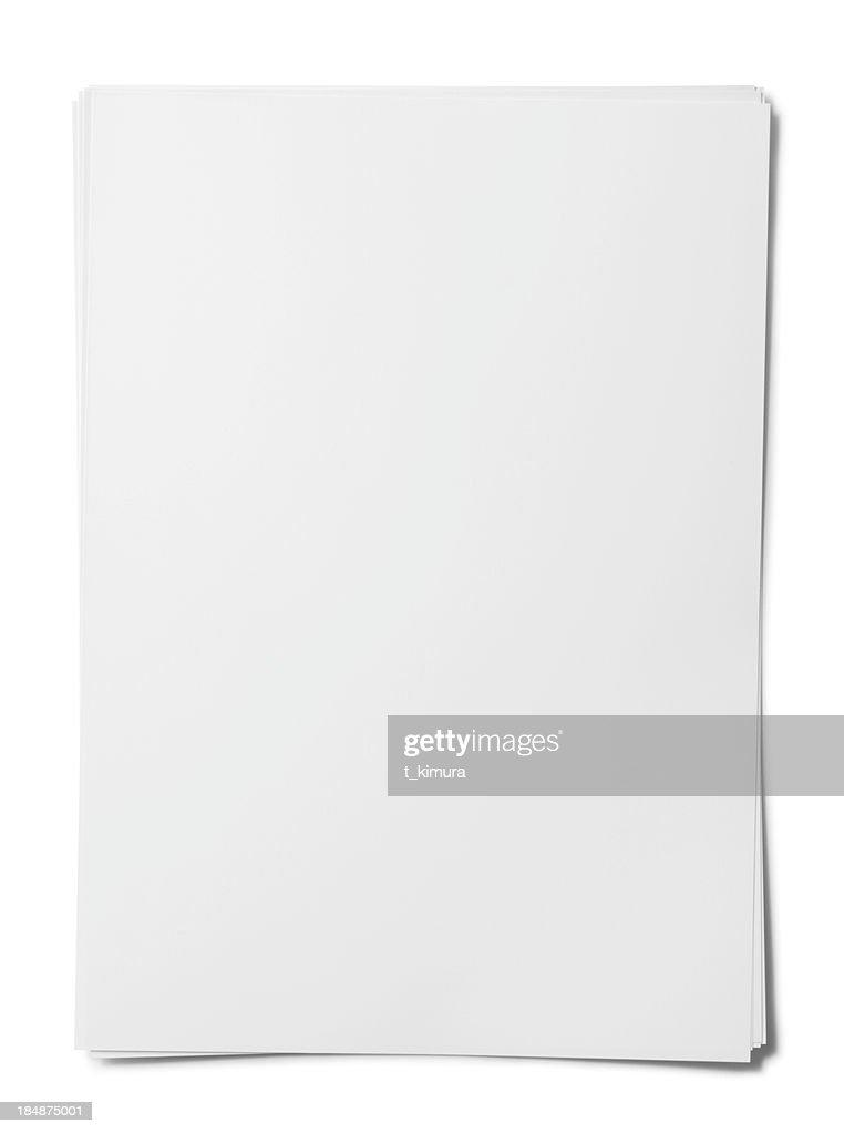 Blank paper sheet. : Stock Photo