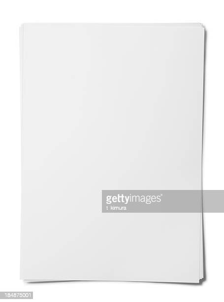 blank paper sheet. - flyer leaflet stock photos and pictures