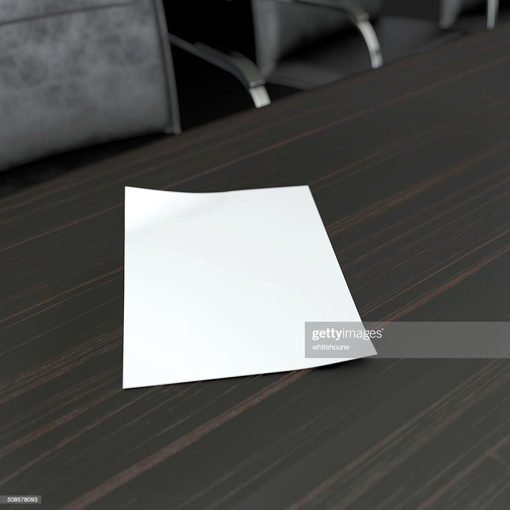 blank paper sheet : Stock Photo