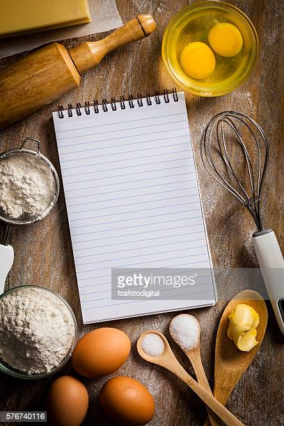 Blank pastry recipe notebook