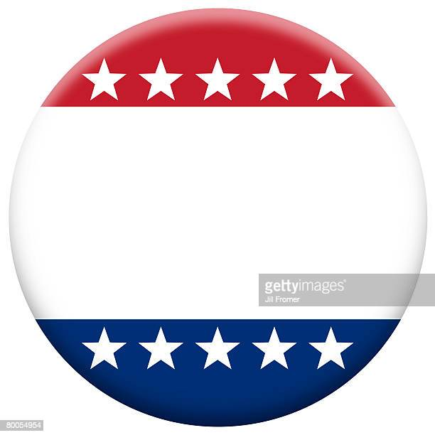 A blank patriotic button. Add your own message.