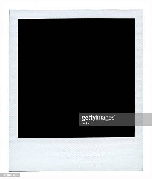 blank photo (authentic polaroid with lots of details) +54 megapixels. - foto stockfoto's en -beelden