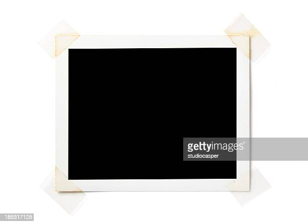 Blank  photo on white