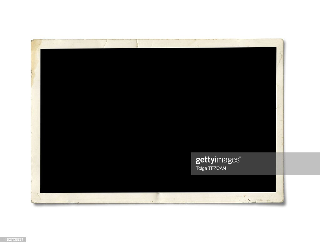 Blank photo paper : Stock Photo