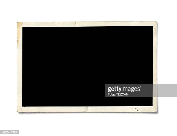 blank photo paper - foto stockfoto's en -beelden
