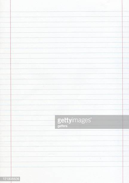 blank piece of lined paper with red margins - lined paper stock pictures, royalty-free photos & images