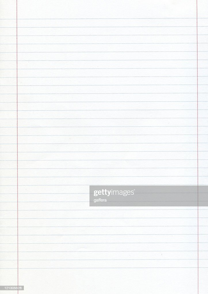 Blank Piece Of Lined Paper With Red Margins  Line Paper