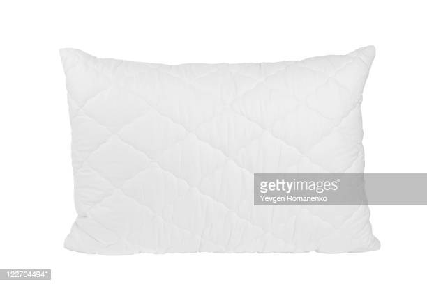 blank pillow isolated on white background. empty cushion for your design. - pillow stock pictures, royalty-free photos & images