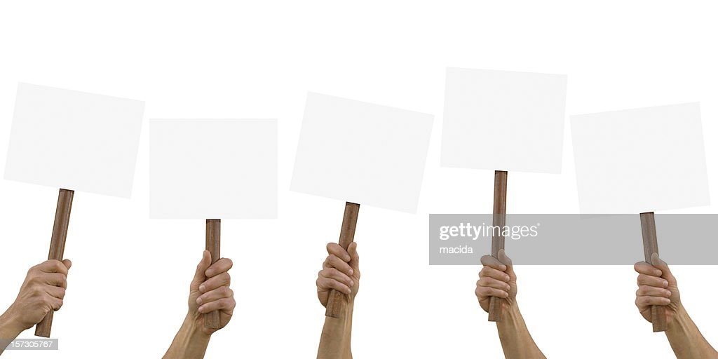 blank placard : Stock Photo