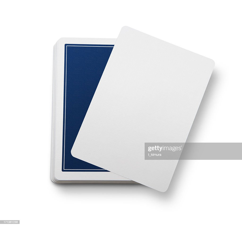 Blank Playing cards : Stock Photo