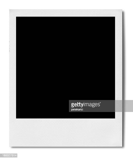blank polaroid (clipping path) - frame stock pictures, royalty-free photos & images