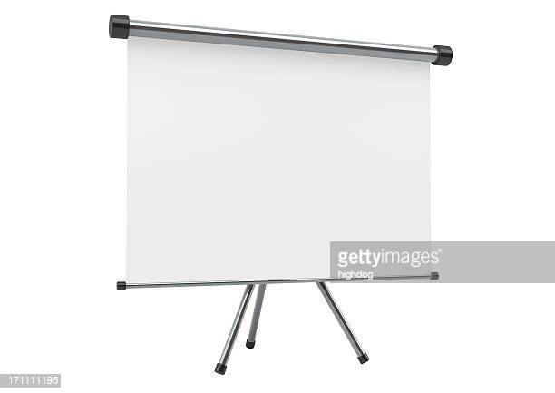 Blank portable projection scree