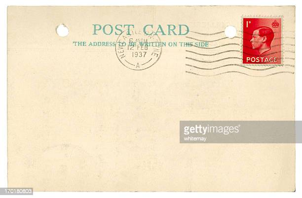Blank postcard from 1937, Edward VIII stamp