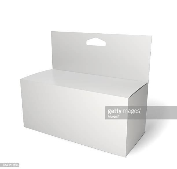 Paquete producto en blanco Aislado en blanco