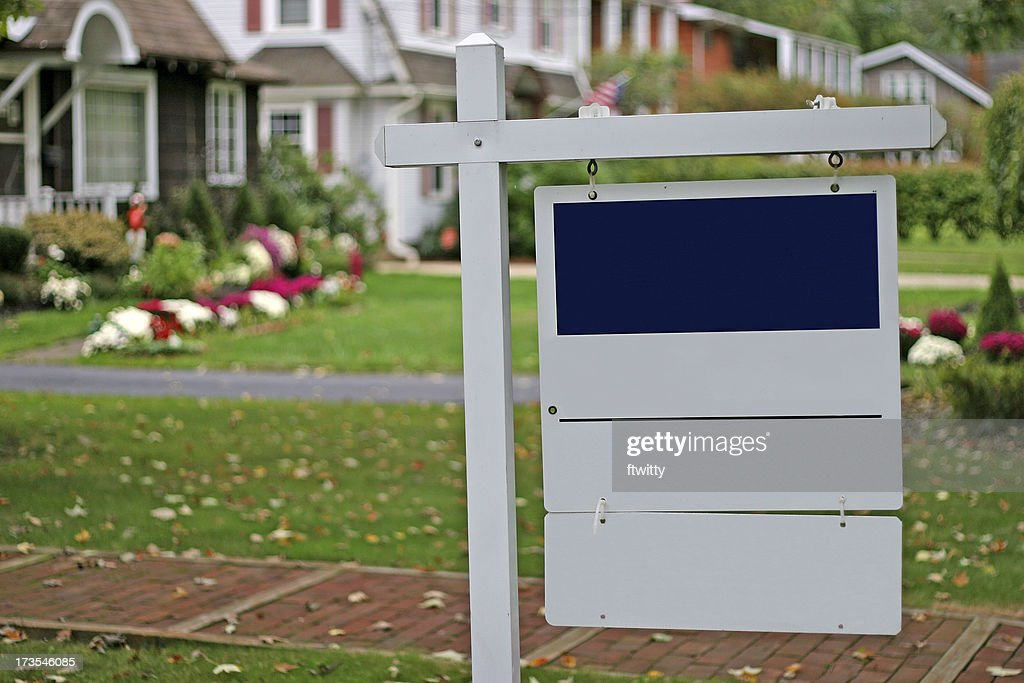 Blank Real Estate Sign : Stock Photo