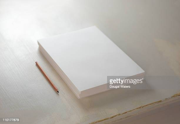 Blank realm of paper and pencil