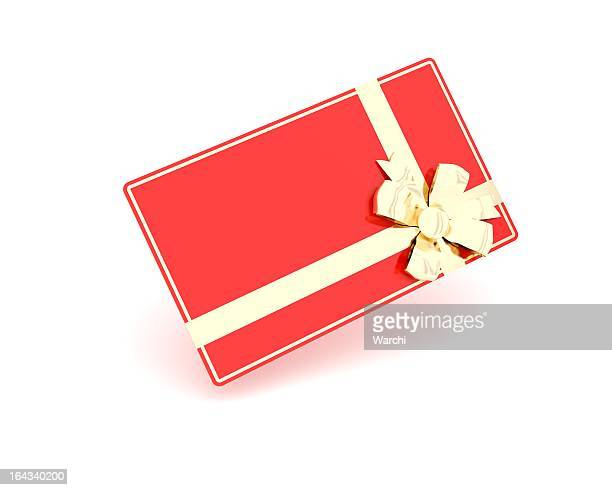 blank red gift card