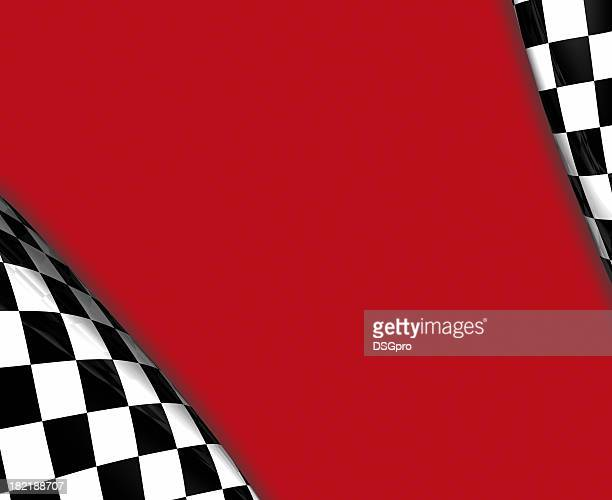 Blank red strip with checkered edges