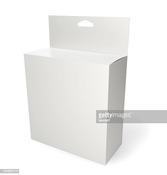 Blank retail product package isolated on white