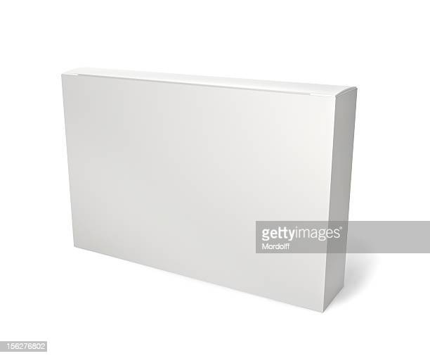 Blank retail product package on white