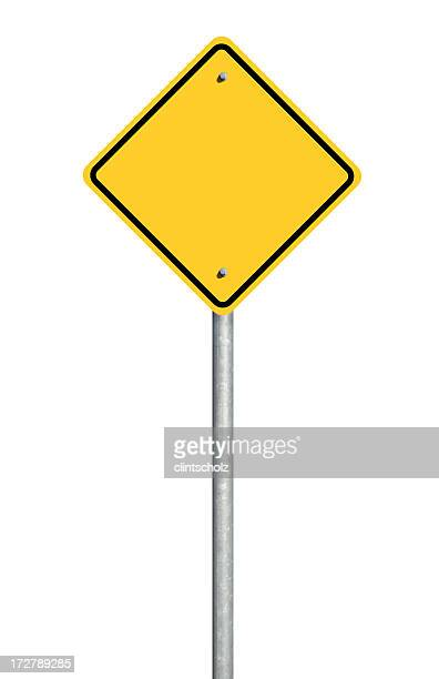 blank road sign - warning sign stock pictures, royalty-free photos & images