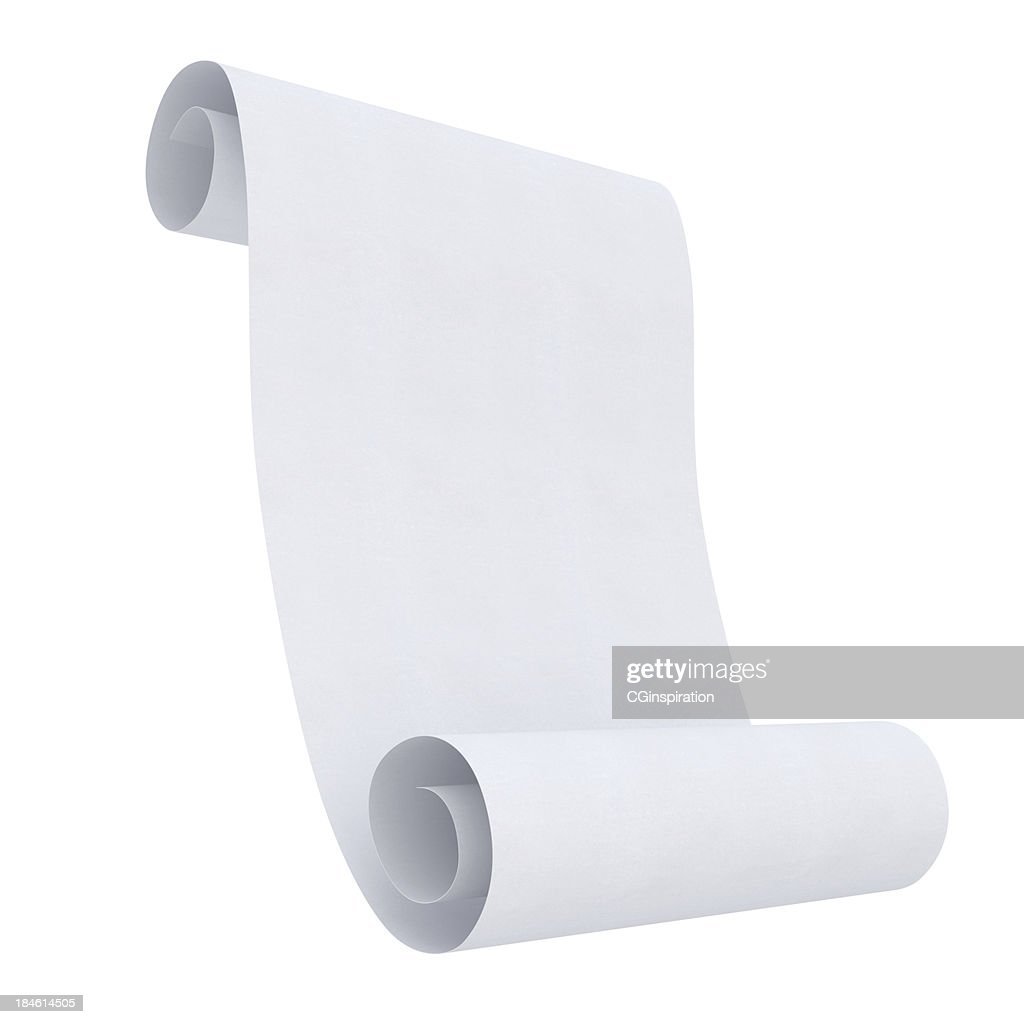 Blank Rolled paper : Stock Photo