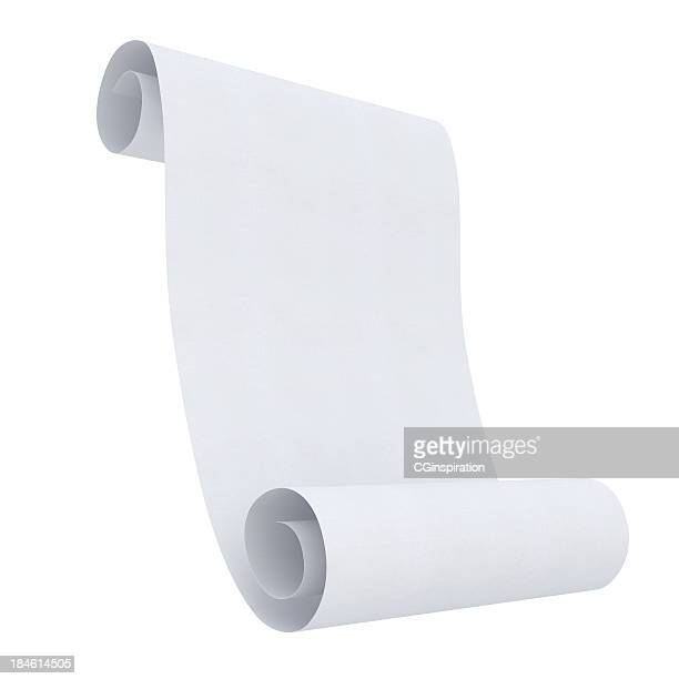 blank rolled paper - rolled up stock pictures, royalty-free photos & images