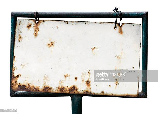 blank rusty sign - rusty stock pictures, royalty-free photos & images