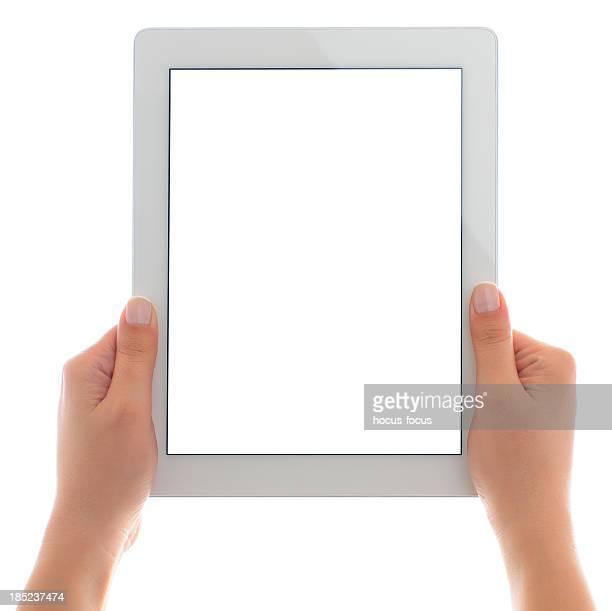 Écran vide blanc tablette pc