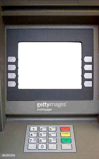 Blank screened bank teller machine