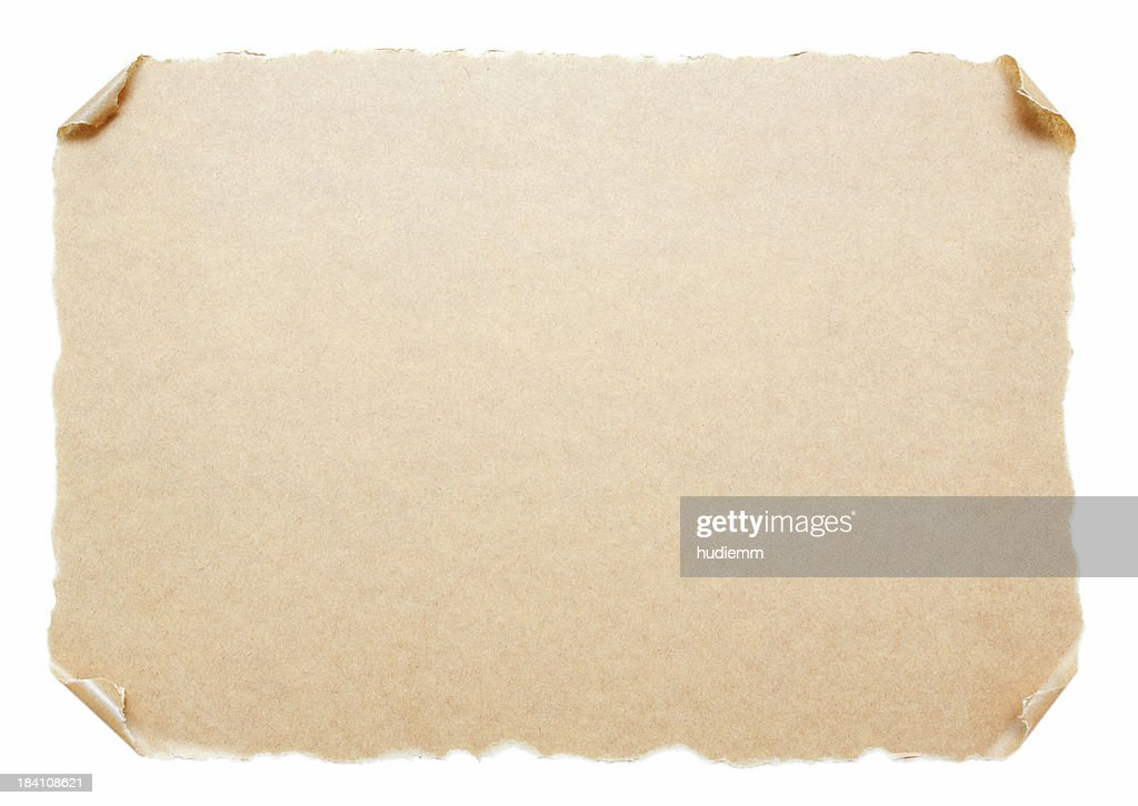 Blank Scroll Paper Background Textured Isolated On White : Stock Photo  Blank Paper Background