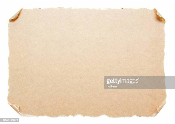Blank Scroll paper background textured isolated on white