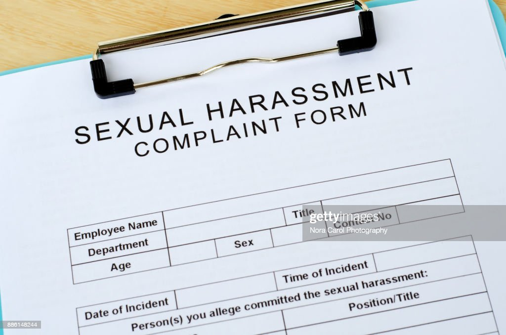 Blank Sexual Harassment Complain Form : Stock Photo